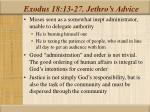 exodus 18 13 27 jethro s advice