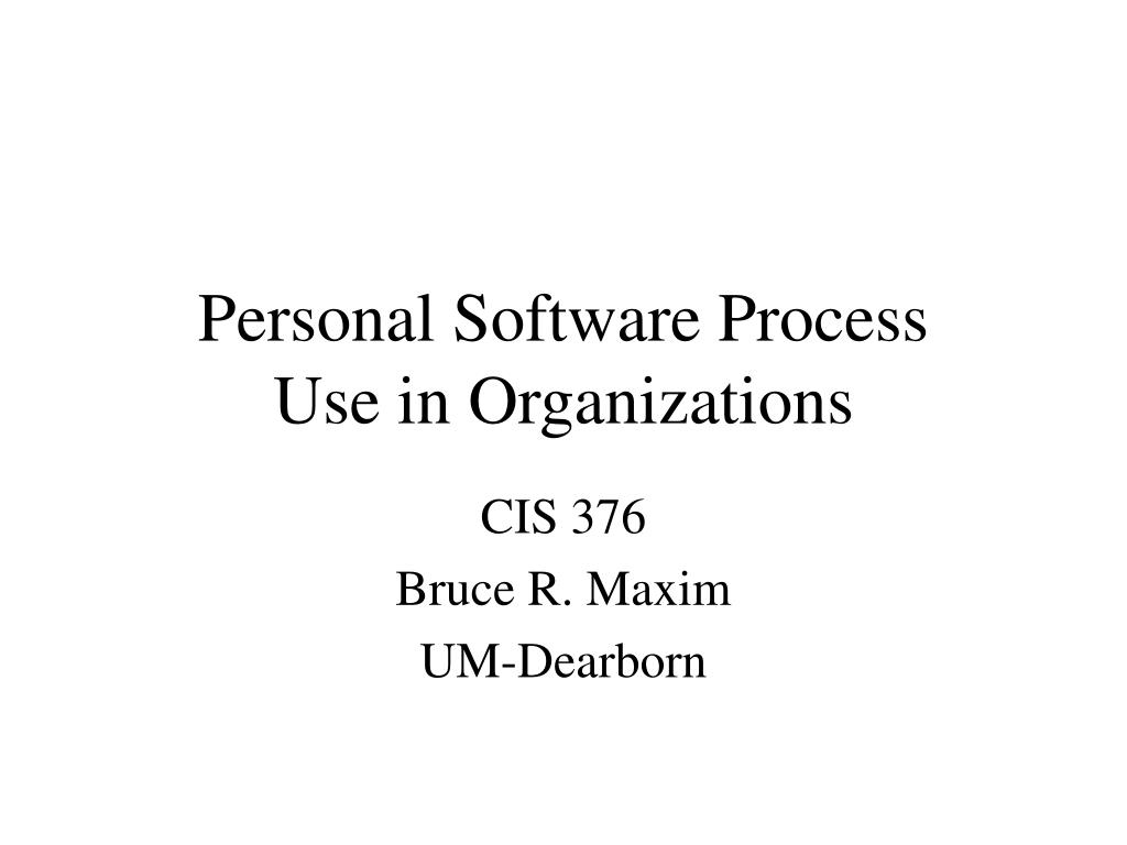 personal software process use in organizations l.