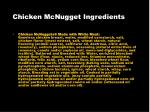 chicken mcnugget ingredients