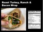 roast turkey ranch bacon wrap