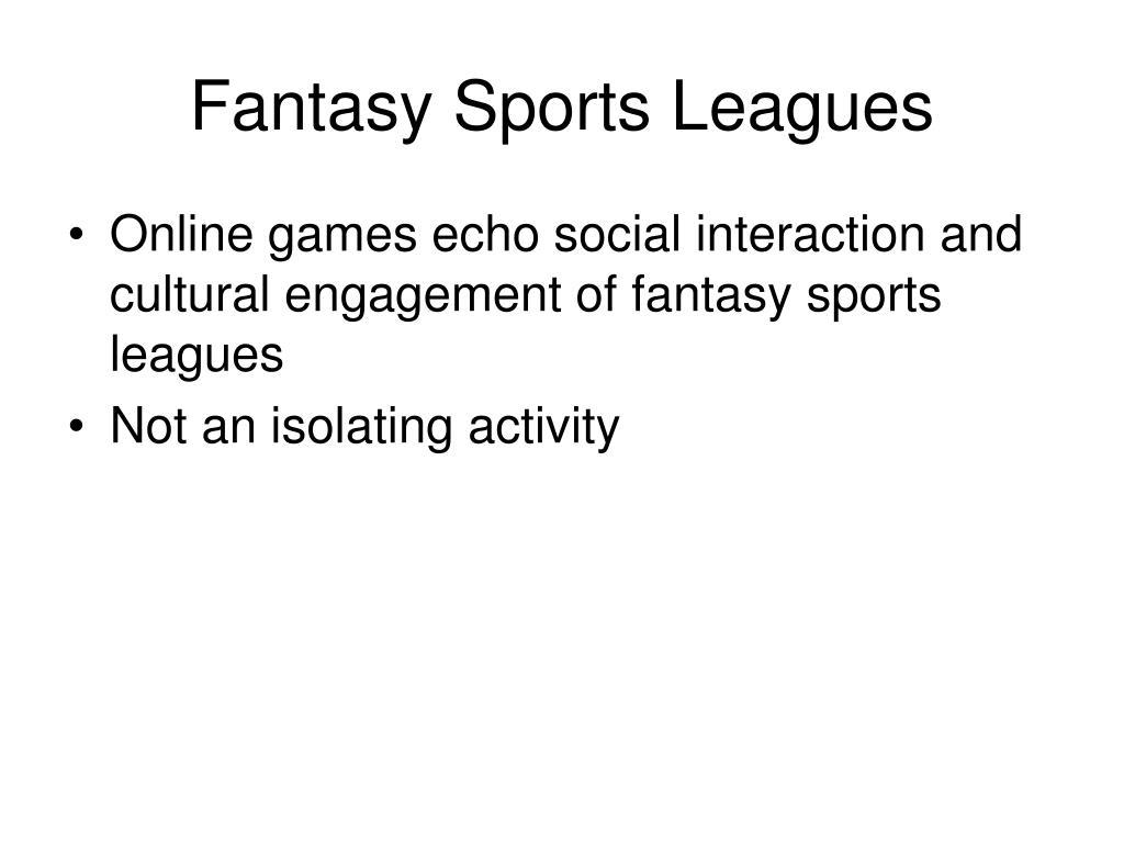 Fantasy Sports Leagues