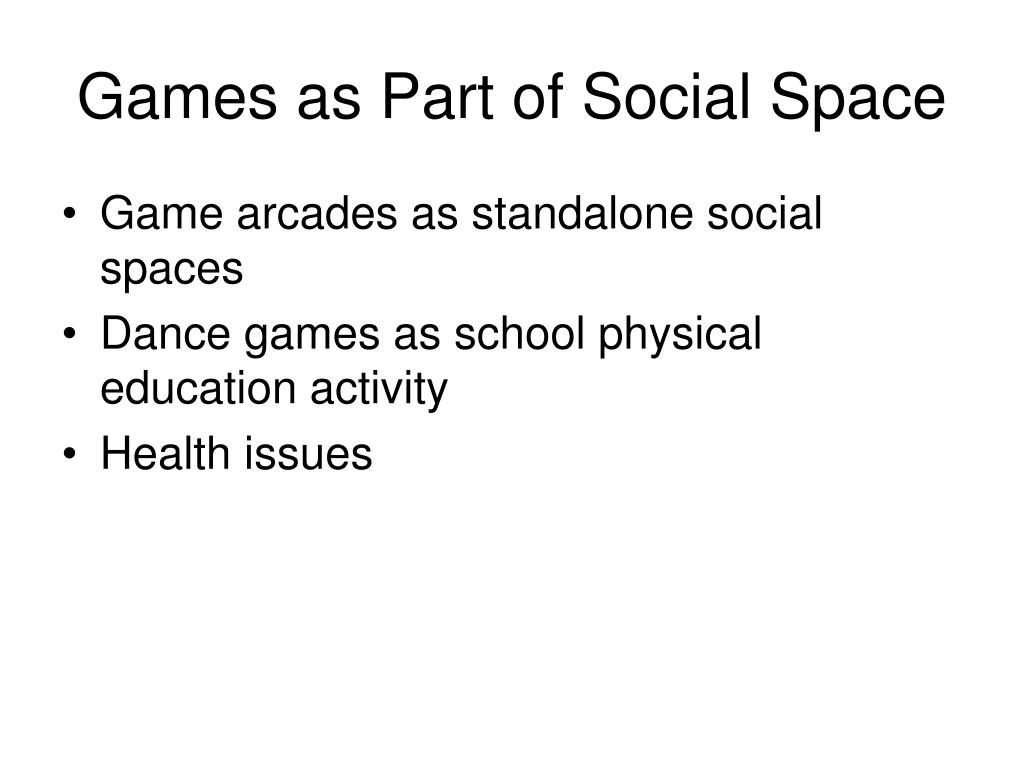 Games as Part of Social Space