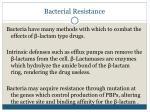 bacterial resistance
