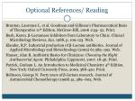 optional references reading