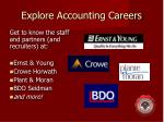 explore accounting careers