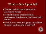 what is beta alpha psi