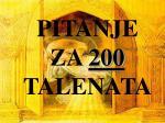 pitanje za 200 talenata