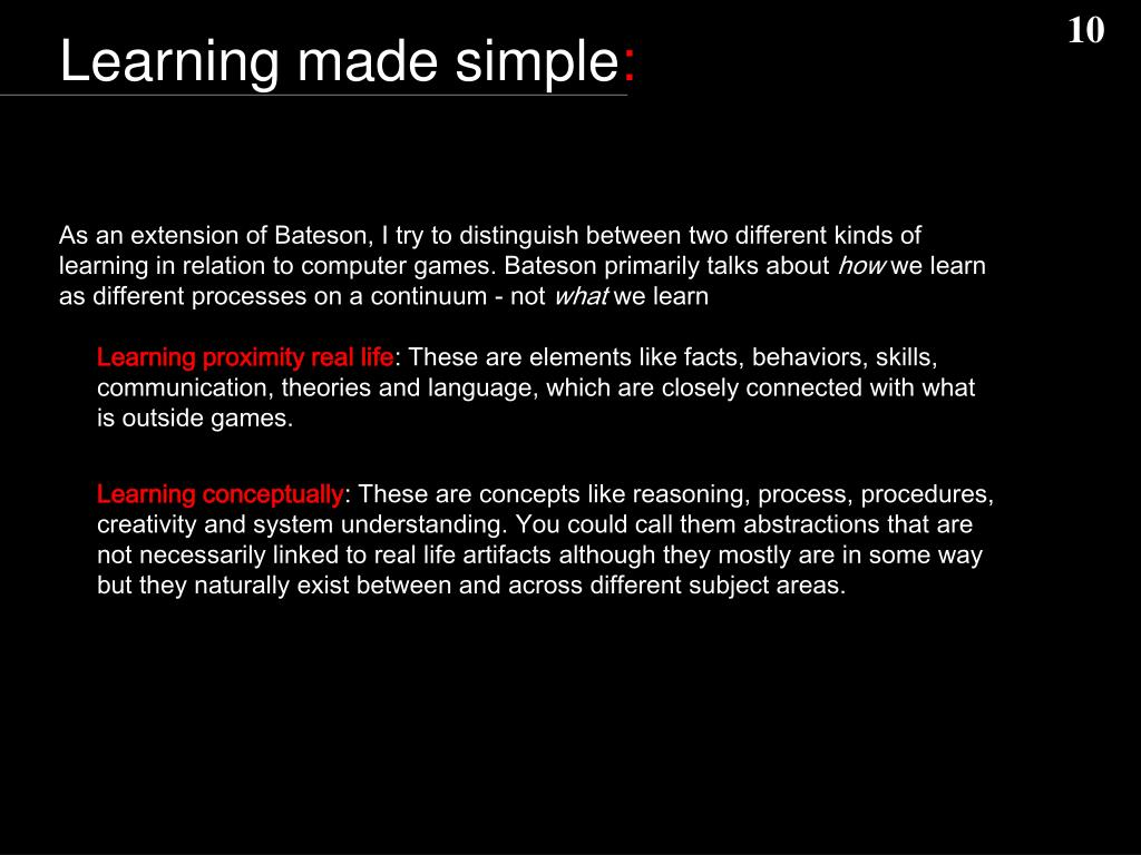 Learning made simple