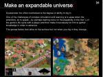 make an expandable universe