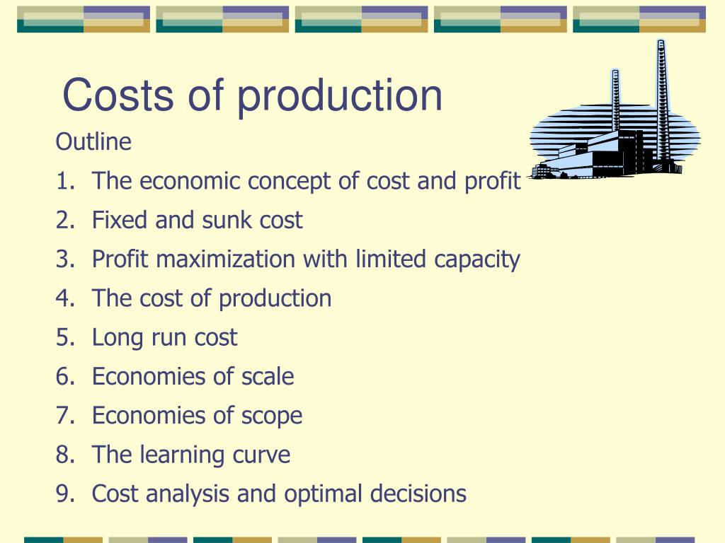 costs of production l.