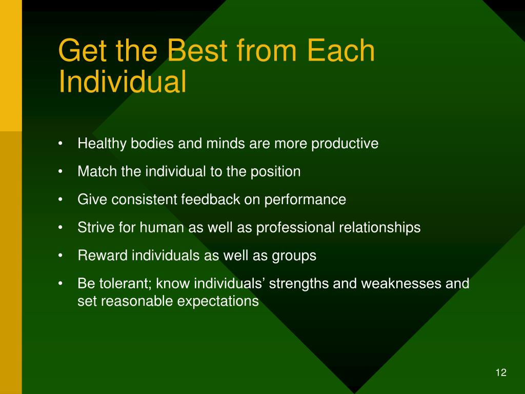 Get the Best from Each Individual