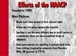 efforts of the naacp
