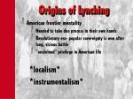 origins of lynching
