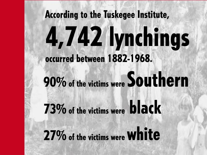 Image result for 27.4% Of Lynchings Were White