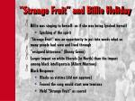 strange fruit and billie holiday