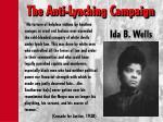 the anti lynching campaign