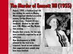 the murder of emmett till 1955