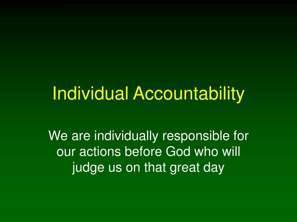 individual accountability l.