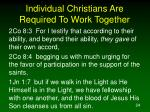 individual christians are required to work together24