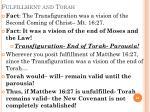 fulfillment and torah
