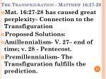 the transfiguration matthew 16 27 28