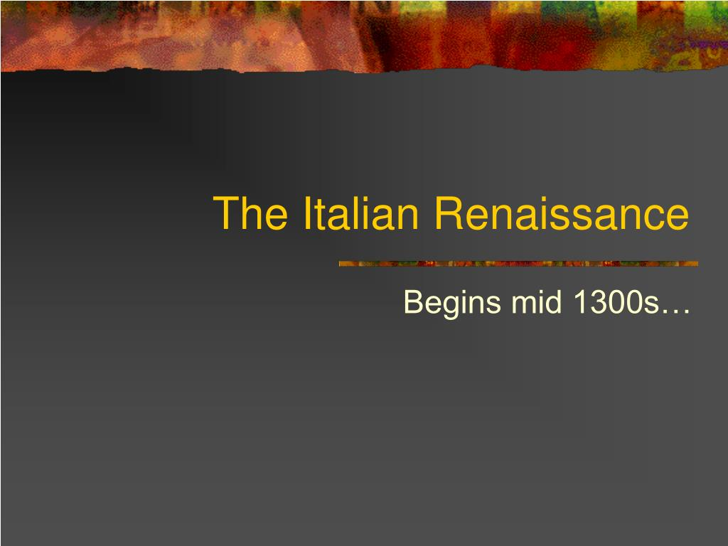 the italian renaissance l.