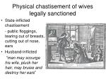 physical chastisement of wives legally sanctioned