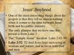 jesus boyhood