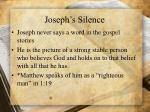 joseph s silence