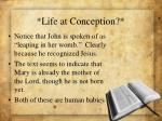 life at conception
