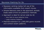 bayesian ranking for go