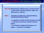 las causas en m xico los eventos y el activismo16