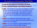 las respuestas institucionales trilateral