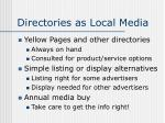 directories as local media