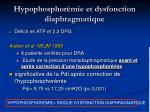 hypophosphor mie et dysfonction diaphragmatique