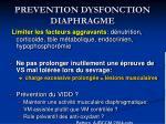 prevention dysfonction diaphragme