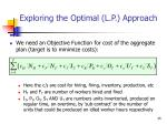 exploring the optimal l p approach