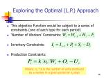 exploring the optimal l p approach36