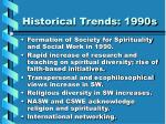 historical trends 1990s