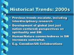 historical trends 2000s