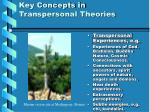 key concepts in transpersonal theories