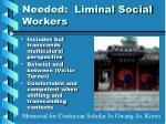needed liminal social workers