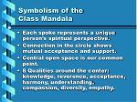 symbolism of the class mandala