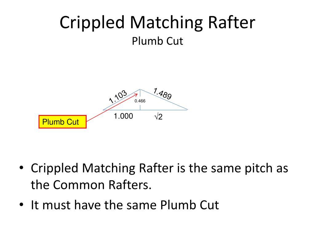 Crippled Matching Rafter