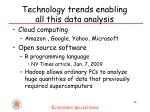 technology trends enabling all this data analysis