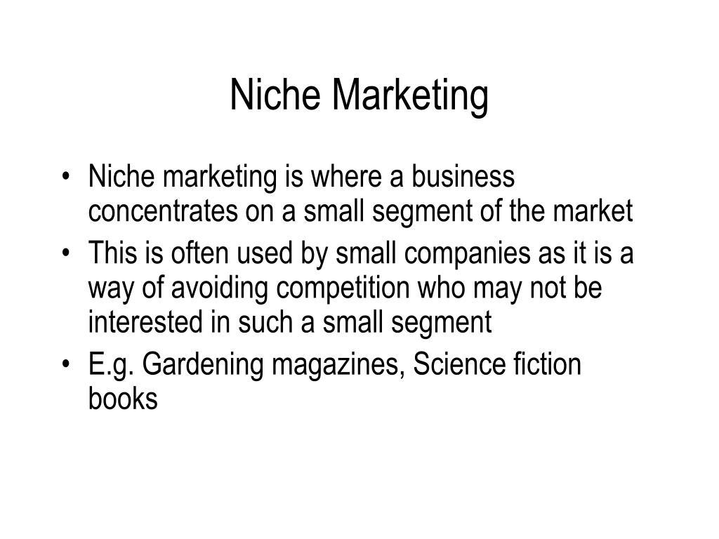 Niche Marketing