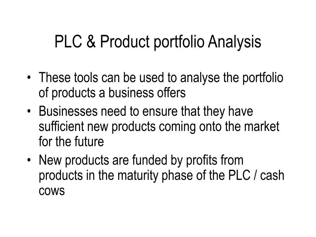 PLC & Product portfolio Analysis