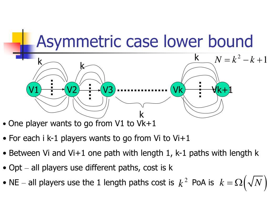 Asymmetric case lower bound