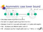 asymmetric case lower bound