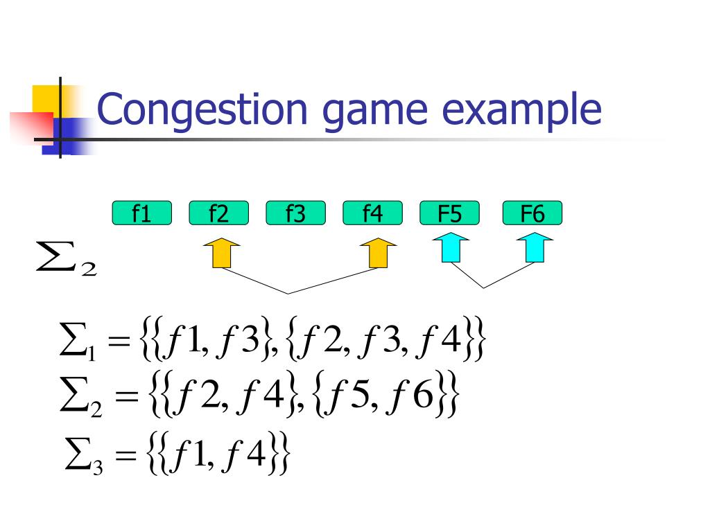 Congestion game example